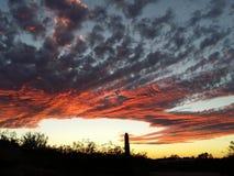 Opvallende Zonsondergang Stock Foto