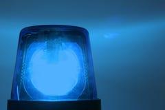 Opvlammend blauw licht stock foto's
