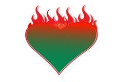 Opvlammend hart Stock Foto