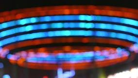 Opvlammend Neonpatroon stock footage