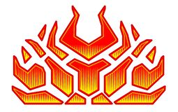 Opvlammende brandoverdrukplaatjes voor de kap van de auto Hete het Rennen van de Staaf Vlammen Vinyl klaar stammenvlammen vector illustratie
