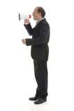 Opvliegende werkgever Stock Foto's