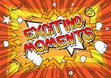 Opwindende Ogenblikken - de Grappige woorden van de boekstijl stock illustratie