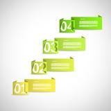 Opzione che seleziona i modelli di carta Immagine Stock