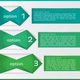 Opzione Infographic. Illustrazione di vettore Fotografia Stock
