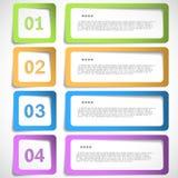 1-2-3-4 opzione - la carta incornicia il modello Immagini Stock