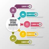 Opzioni circolari Infographic Immagine Stock