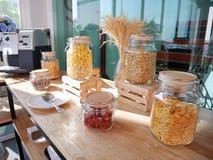 Opzioni del cereale per la prima colazione Fotografia Stock Libera da Diritti