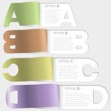 Opzioni di carta di taglio di A-b-c-d Fotografie Stock Libere da Diritti
