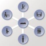 Opzioni di vita Montaggio dei bottoni Fotografia Stock Libera da Diritti