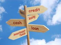 Opzioni finanziarie di affari Fotografie Stock Libere da Diritti