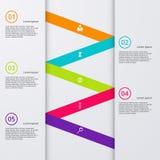 Opzioni infographic dell'illustrazione di vettore cinque Fotografia Stock Libera da Diritti