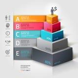 opzioni moderne dello steb di affari della scala 3d. Fotografia Stock