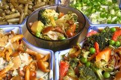 Opzioni per le insalate Fotografie Stock Libere da Diritti