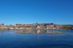 Oqaatsut in estate, Groenlandia Fotografia Stock Libera da Diritti