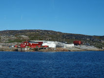 Oqaatsut fisher village, Greenland. Oqaatsut is an old whaling settlement  in Rodebay north of Ilulissat Stock Photos