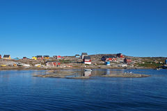 Oqaatsut in summer, Greenland. Oqaatsut is an old whaling settlement  in Rodebay north of Ilulissat Royalty Free Stock Photography