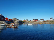 Oqaatsut in summer, Greenland. Oqaatsut is an old whaling settlement  in Rodebay north of Ilulissat Royalty Free Stock Images
