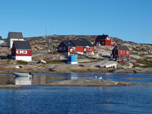 Oqaatsut village, Greenland. Oqaatsut is an old whaling settlement  in Rodebay north of Ilulissat Stock Images