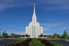 Oquirrh Mountain Temple Royalty Free Stock Photography