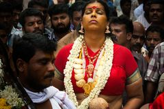 Oráculo de la señora en el bharani Fotografía de archivo