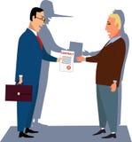 Orättvist avtal vektor illustrationer