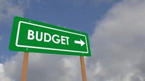 orçamento ilustração stock