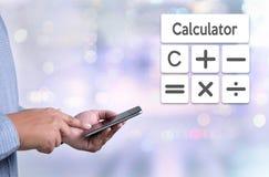 Orçamento Calcul da operação bancária da contabilidade do investimento empresarial do cálculo Fotografia de Stock