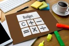 Orçamento Calcul da operação bancária da contabilidade do investimento empresarial do cálculo Imagem de Stock Royalty Free