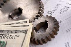 Orçamento, dólares e catracas Foto de Stock Royalty Free