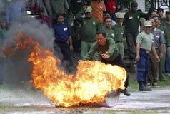 ORÇAMENTO DA GESTÃO DE DESASTRES DE INDONÉSIA Fotografia de Stock