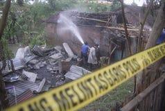 ORÇAMENTO DA GESTÃO DE DESASTRES DE INDONÉSIA Foto de Stock