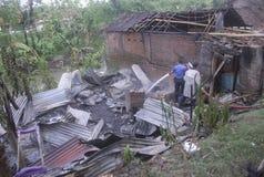 ORÇAMENTO DA GESTÃO DE DESASTRES DE INDONÉSIA Foto de Stock Royalty Free