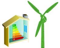 Orçamento de energia da casa Fotografia de Stock Royalty Free