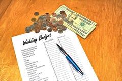 Orçamento do casamento Fotos de Stock Royalty Free