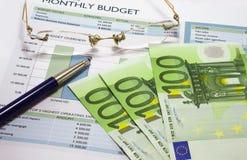 Orçamento mensal 3 Foto de Stock