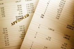 Orçamento operacional aprovado Fotos de Stock Royalty Free