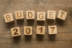 Orçamento para 2017 imagens de stock