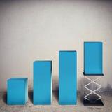 Orçamentos financeiros equipados rendição 3d Foto de Stock Royalty Free