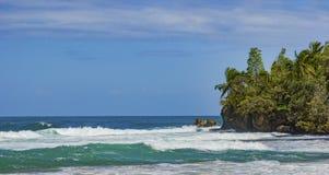 Orörd tropisk strand i Bocas del Toro Panama Royaltyfri Foto