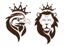 Orzeł i lew Fotografia Royalty Free