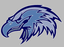 orła kierowniczy loga maskotki wektor Obraz Stock