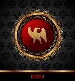 orła medalion złoty heraldyczny Fotografia Stock