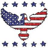 Orła patriotyczny Amerykański nakreślenie ilustracji