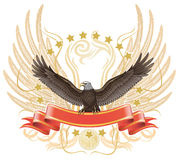 orła rozszerzania się skrzydło Fotografia Royalty Free