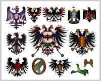 orły heraldyczni royalty ilustracja