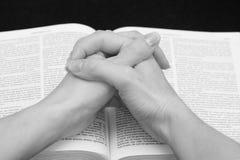 Oração fotografia de stock
