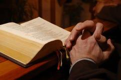 Oração do padre Imagem de Stock