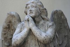 Oração dos anjos Fotos de Stock Royalty Free