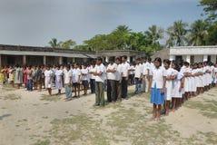 Oração dos estudantes da escola. Imagens de Stock Royalty Free